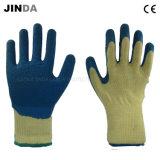 El látex cubrió los guantes protectores del trabajo de la seguridad del trabajo industrial (LS504)