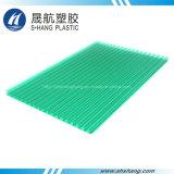 Placa de cavidade de plástico de policarbonato amarelo verde fosco