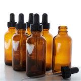 Bernsteinfarbiger Duftstoff-Glasflasche für Medizin (NBG06)