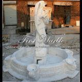 Белый фонтан скульптуры Carrara для корабля Mf-639
