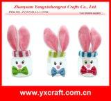 Sostenedor de la pluma del uso del regalo de Pascua de la decoración del partido del tarro del conejo de Pascua de la decoración de Pascua (ZY15Y308-1-2-3)