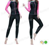 Het quik-droge In te ademen Kostuum van de Sporten van Lycra van de Koker van Vrouwen Lange