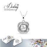 Cristal da jóia do destino do pendente & da colar majestosos da pérola de Swarovski