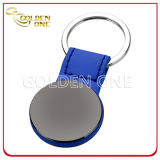 Qualitätskundenspezifisches gestempeltes Stahl gebürstetes Ende haltbares ledernes Keychain