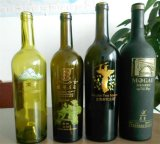 стеклянная бутылка вина 750ml с печатание экрана