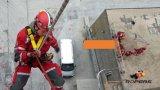 Faisceau en nylon avec la corde de délivrance d'incendie couverte par Technora