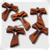 High-End Houten Stuk speelgoed, Decoratieve Houten Kruisbeelden, Met de hand gemaakt Houten Kruis (iO-Cw022)