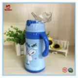 Grad-Stroh-Edelstahl-Flasche der Nahrung12oz mit Griff