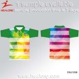 Maglietta di polo degli uomini su ordinazione di sublimazione resi personali abiti sportivi di Healong