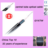 4 Núcleo Tubo Central Cable de Acero Paralelo Cable de Acero Corrugado Armadura Cable de Fibra Óptica