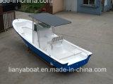 Iate da pesca da alta qualidade dos barcos de trabalho da fibra de vidro do transporte do trabalho de Liya 7.6m