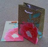 Sac de papier promotionnel d'emballage de cadeau avec le traitement de bande