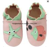 Chaussures en cuir pour bébé respirant inférieure douce intérieure