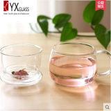 De Kop van de Thee van het Glas van het Ontwerp 250ml van de manier met Glas Infuser wordt geplaatst/de Mok van de Thee van het Glas met Glas GLB/de Maker die van de Thee van het Glas wordt geplaatst