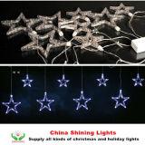 輝いた装飾LEDの星のカーテンライト