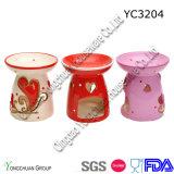 Sostenedor de vela de cerámica para la boda