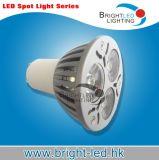 3*1W luz MR16/GU10/E27 del punto del poder más elevado LED