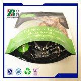 Sacchetto impaccante di plastica dell'alimento per animali domestici con la chiusura lampo