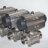 Valvola pneumatica a temperatura elevata sanitaria dell'acciaio inossidabile con alta pressione