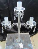 Ясный стеклянный держатель для свечи с 3 замораживая плакатами