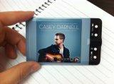 주문을 받아서 만들어진 디자인 로고 가득 차있는 인쇄 신용 카드 MP3 선수 (OM-C105)