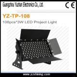 luz da arruela da parede do diodo emissor de luz de 72pcsx3w RGBW para o estágio