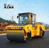 12 Tonnen-doppelte Trommel-Straßen-vibrierendrolle für Verkauf (XD122E)
