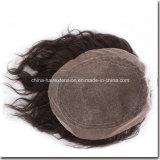 Cheveu du Toupee des hommes de cheveux humains de 100%