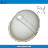 Bassin de lavage de salle de bains en céramique blanc Cupc pour le comptoir inférieur (SN007)