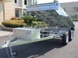 трейлера Tipper 10X5FT горячий окунутый гальванизированный используемый фермой трейлер гидровлического сверхмощный