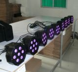 Cubierta plástica 7X10W RGBA PAR LED Disco Iluminación