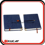 Button Closure Jean Note Book avec Metal Corner