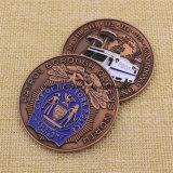 カスタム金属は私達にNypdの挑戦硬貨エナメルを塗る