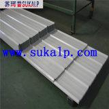 Feuilles ondulées claires de toiture en métal