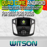 Witson S160 para 2016 Ford Focus Car DVD GPS Player com Rk3188 Quad Core HD 1024X600 Tela 16GB Flash 1080P WiFi 3G frente DVR DVB-T Pipeline Mirror-Link (W2-M501)