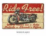 De houten Decoratieve Raad with&#160 van de Stijl van de Muur van de Plaque Houten Nieuwste; Motorfiets
