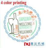 Coasters de papel da bebida que fazem a máquina