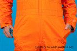 Vêtements de travail de combinaison de chemise du polyester 35%Cotton de la sûreté bon marché 65% longs (BLY1022)
