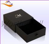 Rectángulo de regalo de papel de encargo de lujo de la cartulina con la pieza inserta de la espuma