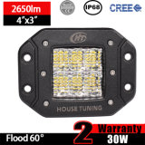 Luz enrasada del trabajo del montaje LED de la inundación difundida 30W (3inch, IP68 impermeabilizan)
