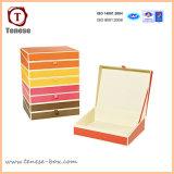Tarjeta de encargo de papel de embalaje caja rígida para la joyería de regalo