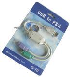 USB ao conversor do adaptador do rato do teclado do cabo de PS/2 PS2 com preço do competidor