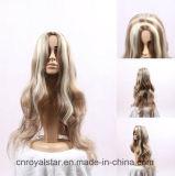 Il nuovo stile evidenzia la grande parrucca sintetica lunga ondulata dei capelli