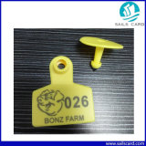 Tag de orelha plástico dos rebanhos animais de 50X42mm para o porco Managemnt da cabra dos carneiros