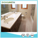 Sink를 가진 황금 Sand Artificial White Quartz Stone Vanity Tops