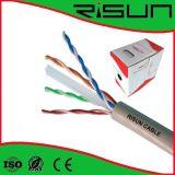câble Twisted CAT6 UTP ignifuge, RoHS du réseau 4pr