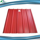 PPGI 색깔에 의하여 입히는 직류 전기를 통한 물결 모양 강철 지붕용 자재