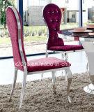 Großhandelsluxuxtasten-Rückseiten-runde Oberseite-Hotel-Bankett, das Stuhl speist