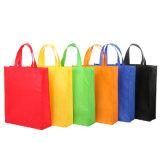 Bolso reutilizable de la tienda de comestibles con la impresión de encargo de la insignia (LJ-81)