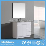 オーストラリア様式2個の洗面器(BC112V)が付いている普及した現代MDFの浴室用キャビネット